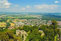 View of Singen and Hegau from Hohentwiel Castle, Hohentwiel, Singen, Baden-Wurttemberg, Germany Stock Photo - Premium Rights-Managednull, Code: 700-06368315