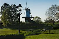 Windmill and Lamppost Stock Photo - Premium Rights-Managednull, Code: 700-06368355