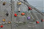 Close-up of Locks of Love, Tetraeder, Bottrop, Ruhr Basin, North Rhine-Westphalia, Germany Stock Photo - Premium Rights-Managed, Artist: Raimund Linke, Code: 700-06368491