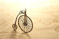Bicycle miniature on an old map Stock Photo - Premium Royalty-Freenull, Code: 622-06369963