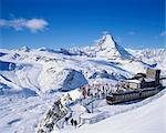 Gornergrat station and the Matterhorn Stock Photo - Premium Royalty-Free, Artist: Oriental Touch, Code: 622-06370266