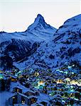 Zermatt at evening Stock Photo - Premium Royalty-Free, Artist: Oriental Touch           , Code: 622-06370269
