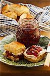 Apple and plum jam with walnuts Stock Photo - Premium Royalty-Freenull, Code: 659-06372537