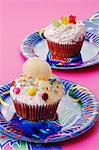 Children's cupcakes Stock Photo - Premium Royalty-Free, Artist: ableimages, Code: 659-06372696