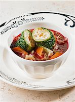 Borscht with savoy cabbage rolls Stock Photo - Premium Royalty-Freenull, Code: 659-06372701
