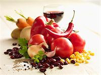 salt - Ingredients for chilli con carne Stock Photo - Premium Royalty-Freenull, Code: 659-06372759