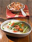 Cray fish, potato, carrot and asparagus stew Stock Photo - Premium Royalty-Free, Artist: Water Rights, Code: 659-06372873