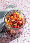Sweet and sour vegetables in a glass with mango, pepper and aubergine Stock Photo - Premium Royalty-Freenull, Code: 659-06373038