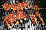 Marinated veal spare ribs on the grill Stock Photo - Premium Royalty-Free, Artist: Photocuisine, Code: 659-06373086