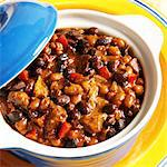 Pork and bean stew Stock Photo - Premium Royalty-Free, Artist: foodanddrinkphotos, Code: 659-06373396