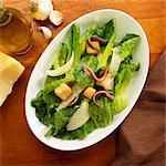 Bowl of Caesar Salad with Anchovies Stock Photo - Premium Royalty-Freenull, Code: 659-06373410