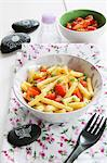 Rigatoni with raw tomatoes Stock Photo - Premium Royalty-Free, Artist: Glowimages, Code: 659-06373510