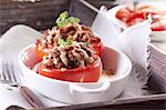 Stuffed tomatoes Stock Photo - Premium Royalty-Freenull, Code: 659-06373635