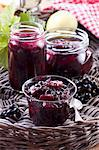 Redcurrant and apple jam Stock Photo - Premium Royalty-Free, Artist: Photocuisine, Code: 659-06373644