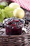 Blackcurrant and apple jam in a glass jar Stock Photo - Premium Royalty-Free, Artist: Robert Harding Images, Code: 659-06373645
