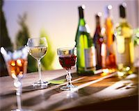 Several Glasses of Wine Stock Photo - Premium Royalty-Freenull, Code: 659-06373653