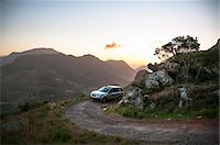 remote car - Vehicle on mountain track at sunset, Table Mountain National Park, Cape Town, Western Cape, South Africa Stock Photo - Premium Royalty-Freenull, Code: 682-06374059