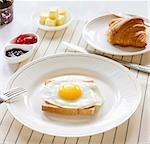 Breakfast. Fried Egg with Jam. Mumbai, India. Stock Photo - Premium Royalty-Free, Artist: photo division, Code: 682-06374182