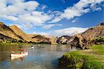 Canoeists paddling on river, Orange River, Richtersveld National Park, Karas Region, Namibia Stock Photo - Premium Royalty-Free, Artist: CulturaRM, Code: 682-06374354