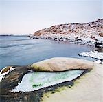 Snow covered rocks by sea during winter, West Coast, Bohuslan, Sweden Stock Photo - Premium Royalty-Free, Artist: Frank Krahmer, Code: 698-06375079