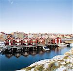 Traditional houses by sea, Bohuslan, Sweden Stock Photo - Premium Royalty-Free, Artist: AWL Images, Code: 698-06375080