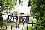 House number 17 on closed metal gate Stock Photo - Premium Royalty-Free, Artist: Aflo Relax, Code: 698-06375100
