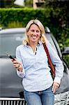 Mid adult woman holding keys in front of her car Stock Photo - Premium Royalty-Free, Artist: Damir Frkovic, Code: 698-06375187