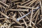 Full frame shot of metallic screws Stock Photo - Premium Royalty-Free, Artist: Blend Images, Code: 698-06375238