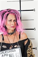 Mug shot of senior punk woman Stock Photo - Premium Royalty-Freenull, Code: 693-06378955