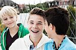 Portrait of Boys Hanging Out in Playground, Mannheim, Baden-Wurttemberg, Germany Stock Photo - Premium Royalty-Free, Artist: Uwe Umstätter, Code: 600-06382883