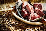 Raw Lamb on Plate Stock Photo - Premium Rights-Managed, Artist: Yvonne Duivenvoorden, Code: 700-06383016