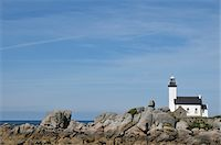Lighthouse, Brignogan-Plage, Finistere, Bretagne, France Stock Photo - Premium Rights-Managednull, Code: 700-06383059