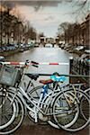 Bikes Parked by Canal, Amsterdam, Netherlands Stock Photo - Premium Royalty-Free, Artist: Matt Brasier, Code: 600-06383722