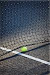 Tennis Ball under Net, Vancouver, British Columbia, Canada Stock Photo - Premium Royalty-Free, Artist: Ron Fehling, Code: 600-06383833
