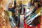 Background old style with medieval armor Stock Photo - Royalty-Free, Artist: carloscastilla                , Code: 400-06384145