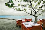 Restaurant near the sea at Peiscola(Spain) Stock Photo - Royalty-Free, Artist: carloscastilla                , Code: 400-06384161