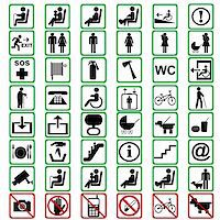 International signs used in tranportation means Stock Photo - Royalty-Freenull, Code: 400-06384197