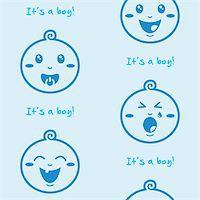 Cute baby boy pattern, wallpaper Stock Photo - Royalty-Freenull, Code: 400-06384616