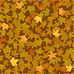 vector autumn yellow maple leaf seamless background pattern Stock Photo - Royalty-Free, Artist: 100ker                        , Code: 400-06384784