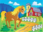 Horse theme image 5 - vector illustration.
