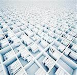 endless white shelves (illustrated concept) Stock Photo - Royalty-Free, Artist: vicnt                         , Code: 400-06390059