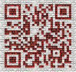 QR code in matrix of bookshelfs (illustrated concept) Stock Photo - Royalty-Free, Artist: vicnt                         , Code: 400-06390060