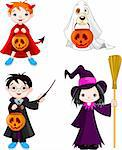 Children wearing Halloween costumes Stock Photo - Royalty-Free, Artist: Dazdraperma                   , Code: 400-06390138