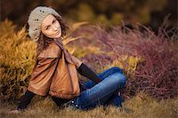 young girl in autumn park Stock Photo - Royalty-Freenull, Code: 400-06391171