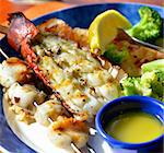 lobster Shrimps And Scallops Dish ,Close Up Stock Photo - Royalty-Free, Artist: svetlanna                     , Code: 400-06391915