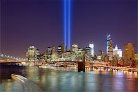 Tribute in Light in Downtown New York City in remembrance of the 9/11 attack. Stock Photo - Royalty-Freenull, Code: 400-06393488
