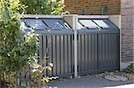 Modern  metal containers for  garbage  recycling at the yard of building Stock Photo - Royalty-Free, Artist: Flik47                        , Code: 400-06393551