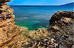 view of the rocky coastline. Elba Island, Italy Stock Photo - Royalty-Free, Artist: porojnicu                     , Code: 400-06393737