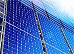 Renewable, alternative solar energy, sun-power plant Stock Photo - Royalty-Free, Artist: ssuaphoto                     , Code: 400-06394053
