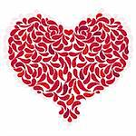 Large red romantic heart on white. (Vector EPS 10) Stock Photo - Royalty-Free, Artist: OlgaDrozd                     , Code: 400-06395473